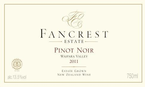 Fancrest Estate Pinot Noir 2012